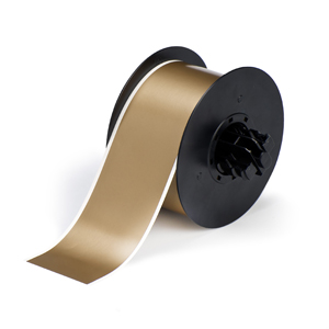 """Brady B30C-2250-595-GD Indoor/Outdoor Vinyl, Gold, 2.250, 100ft., 1 roll (cont.) Labels"""
