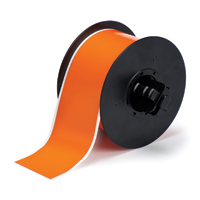 """Brady B30C-2250-595-OR Indoor/Outdoor Vinyl, Orange, 2.250, 100ft., 1 roll (cont.) Labels"""