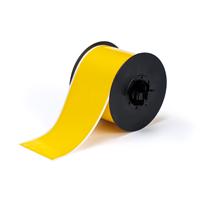 """Brady B30C-3000-595-YL Indoor/Outdoor Vinyl, Yellow, 3.000, 100ft., 1 roll (cont.) Labels"""