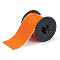 """Brady B30C-4000-595-OR Indoor/Outdoor Vinyl, Orange, 4.000, 100ft., 1 roll (cont.) Labels"""