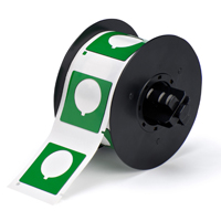 """Brady B30EP-169-593-GN PermaSleeve« HX Polyolefin Wire Marking Sleeves, B-593, Green, 1.800, 1.800, 1.200, 2.000, 2.500, 1, 190 Labels"""