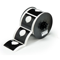 """Brady B30EP-170-593-BK PermaSleeve« HX Polyolefin Wire Marking Sleeves, B-593, Black, 2.400, 2.400, 1.200, 2.625, 3.250, 1, 145 Labels"""