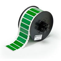 """""""Brady B30EP-172-593-GN Raised Profile Labels - Engraved Plate Substitutes (B-593) Rectangular Style, Green, 0.590, 1.770, 0.850, 2.500, 1, 450 Labels"""""""