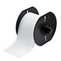 """Brady B33-14-477 Standard Polyimide Labels, Gloss White, 0.650, 0.200, 0.700, 0.300, 2.950, 4, 5000 Labels"""