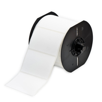 """Brady B33-5-489 Polyester Labels, Matte White, 1.000, 0.500, 1.075, 0.600, 3.350, 3, 5000 Labels"""