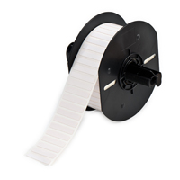 """Brady B33-44-457 Standard Polyimide Labels, Gloss White, 1.375, 0.250, 0.350, 1.600, 1, 5000 Labels"""