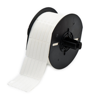 """""""Brady B33-90-498 Repositionable Vinyl Cloth Wire & Cable Label, White, 0.250, 1.437, 0.350, 1.562, 2.200, 6, 2500 Labels"""""""