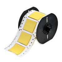 """""""Brady B33D-1000-2-342YL PermaSleeve« PS Polyolefin Wire Marking Sleeves, Yellow, 2 to 0.950 dia, 0.333 - 0.950, 1.000,  0.375, .036 +/- .003, 1, 100 Labels"""""""