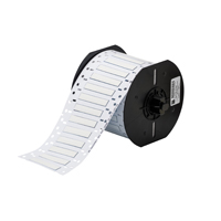 """""""Brady B33D-187-2-345 PermaSleeve« HT High Temperature PVDF Wire Marking Sleeves, White, 16 to 10, 0.094 - 0.150, 0.187, 0.093, .015 +/- .003, 1, 250 Labels"""""""