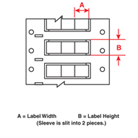 Brady 2HX-094-2-WT-3 PermaSleeve« Wire Marking Sleeves