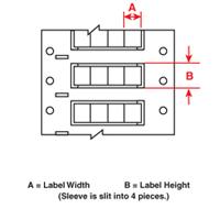 Brady 2HX-094-2-WT-4 PermaSleeve« Wire Marking Sleeves