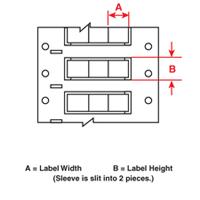 Brady 2HX-250-2-WT-J-3 PermaSleeve« Wire Marking Sleeves