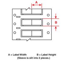 Brady 2HX-500-2-WT-2 PermaSleeve« Wire Marking Sleeves