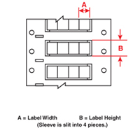 Brady 2ZH-187-2-WT-4 PermaSleeve« Wire Marking Sleeves
