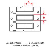 Brady 2ZH-500-2-WT-2 PermaSleeve« Wire Marking Sleeves