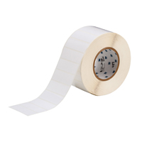 """Brady THT-5-484-10 Polyester, White, 1.000, 0.500, 1.075, 0.600, 3.350, 3, 10,000, R6007 Labels"""