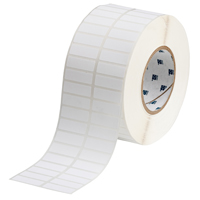 """Brady THT-37-489-10 Polyester, White, 1.500, 0.500, 1.650, 0.600, 3.350, 2, 10,000, R4307 Labels"""