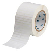 """Brady THT-40-423-10 Polyester, White, 1.375, 0.250, 1.475, 0.375, 3.050, 2, 10,000, R6002 Labels"""