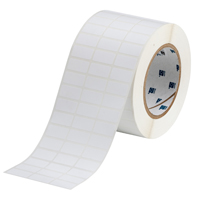 """Brady THT-5-459-10 Polyester, White, 1.000, 0.500, 1.075, 0.600, 3.350, 3, 10,000, R6007 Labels"""