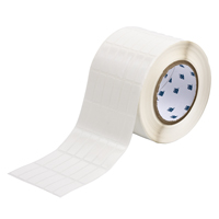 """Brady THT-87-498-5 Vinyl Cloth, White, 0.500, 1.437, 0.600, 1.562, 3.700, 6, 5,000, R6207 Labels"""