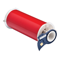 """Brady 13553 Indoor/Outdoor Grade Vinyl Tape, B-595, Red, 8.000, 50ft., 1 roll, 13512 Labels"""