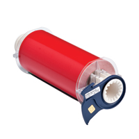 """Brady 13654 Indoor/Outdoor Grade Vinyl Tape, B-595, Red, 7.000, 50ft., 1 roll, 13512 Labels"""