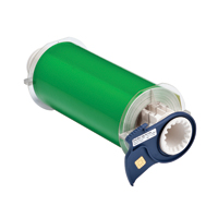 """Brady 13655 Indoor/Outdoor Grade Vinyl Tape, B-595, Green, 7.000, 50ft., 1 roll, 13512 Labels"""