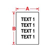 """Brady PTL-80-488 TLS2200 Nameplate Polyester Labels, (A) 0.75"""" x (B) 0.9"""""""