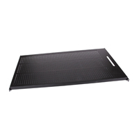 """Hubbell MCCPSHLF Equipment Shelf, Stationary, Perforated, 17.7ö W x 29.13ö D, Black"""