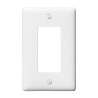 """Hubbell NP26W 1-gang decorator plate, White"""