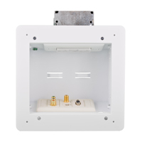 """Hubbell NSAV62M 2-gang in-wall enclosure, 8.16öH x 7.92öW x 3.37öD, White"""