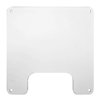 """Hubbell NSAV6C Steel cover for NSAV6 series, 7.2öH x 7.2öW x 0.05öD, White"""