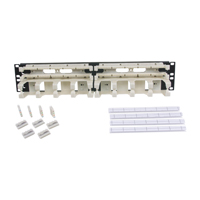 """Hubbell 110RM15 Rack mount kit, 100-pair with 5-pair connecting blocks 2U"""