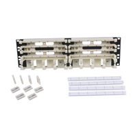 """Hubbell 110RM24 Rack mount kit, 200-pair with 4-pair connecting blocks 3U"""