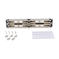 """Hubbell 110RM24NT Rack mount kit, 200-pair with 4-pair connecting blocks 2U"""
