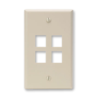 Leviton 41080-4IP 4 port faceplate ivory