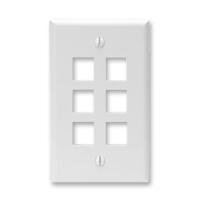 Leviton 41080-6WP 6 port faceplate