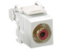 """Leviton 40735-RI* RCA-110 Connector, Ivory with Inner Barrel Color"""