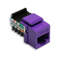 Leviton 41108-RP5 category 5 jack purple