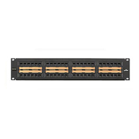 Leviton 5G596-C48 Central Label 48-Port CAT 5e Patch Panel