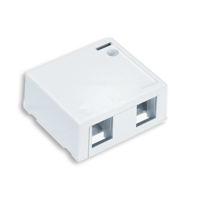 Leviton 41089-2WP 2 port surface mount box white