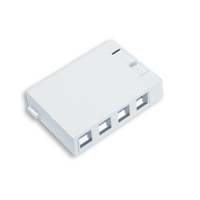 Leviton 41089-4WP 4 port surfacemount box white