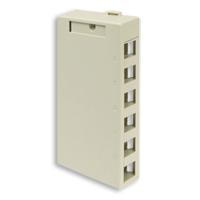 Leviton 41089-6IP 6 port surface mount box ivory