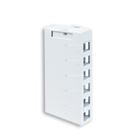 Leviton 41089-6WP 6 port surface mount box white