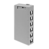 Leviton 41089-6GP 6 port surface mount box gray
