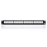 """Leviton 49255-H24 24-Port Panel w/Wire Management Bar, 1RU"""