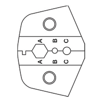 Paladin Tools PA2044 1300/8000 Series SMA FC Fiber Die