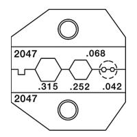 Paladin Tools PA2047 1300/8000 Series Thinnet BNC/TNC: RG59/8281 Die