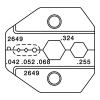 """Paladin Tools PA2649 1300/8000 Series HDTV BNC/TNC CATV """"F"""" Die"""