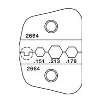 Paladin Tools PA2664 1600 Series SMA SMB FC Biconic Fiber Die